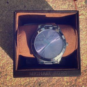 Michael Kors Women's dark blue/black watch